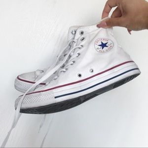 Converse all star white high tops sneakers